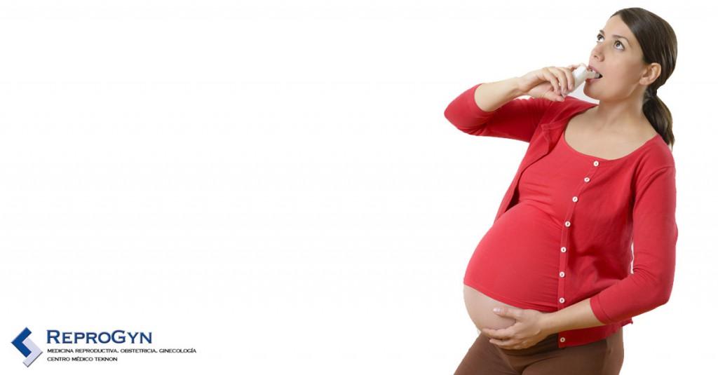 Embarazada con asma