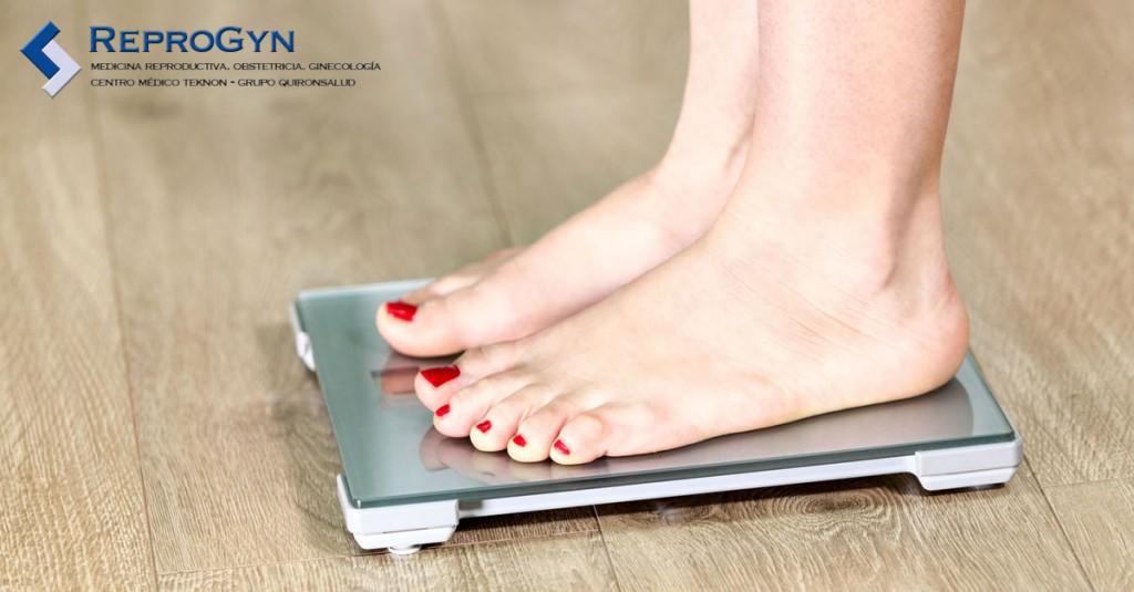 Aumento de peso con la menopausia